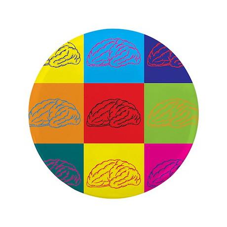 """Neuroscience Pop Art 3.5"""" Button (100 pack)"""