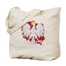 Poland White Eagle Design Tote Bag
