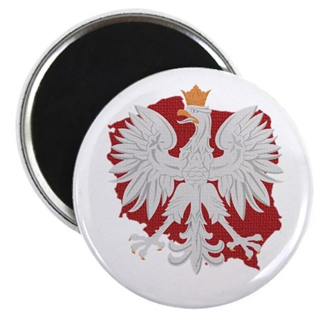 Poland White Eagle Design Magnet