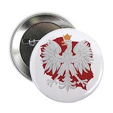 "Poland White Eagle Design 2.25"" Button"