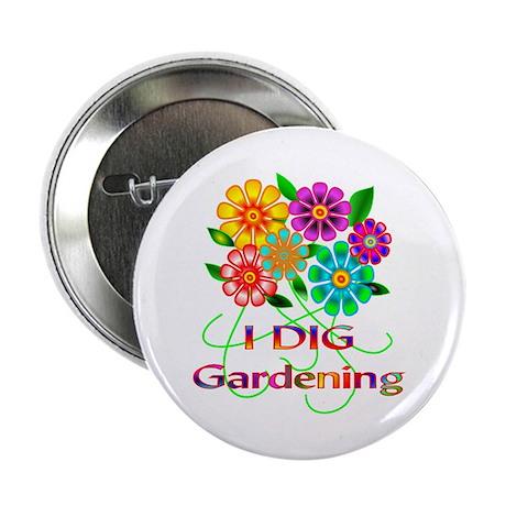 """Gardening 2.25"""" Button (10 pack)"""