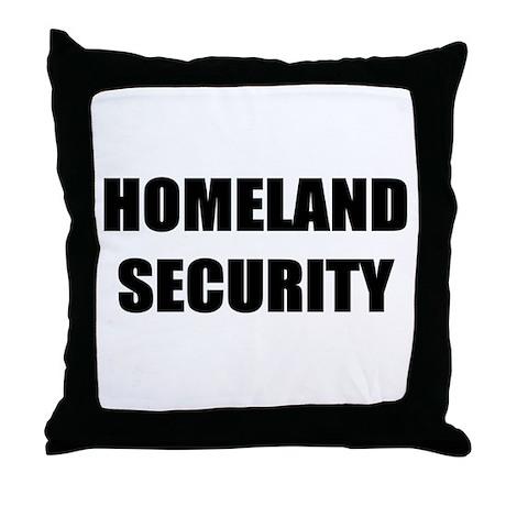 Homeland Security Throw Pillow