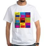 Movies Pop Art White T-Shirt