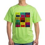 Movies Pop Art Green T-Shirt