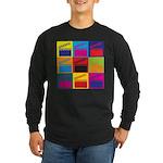 Movies Pop Art Long Sleeve Dark T-Shirt