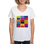 Movies Pop Art Women's V-Neck T-Shirt