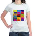 Movies Pop Art Jr. Ringer T-Shirt