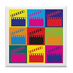 Movies Pop Art Tile Coaster