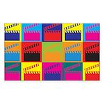 Movies Pop Art Rectangle Sticker 50 pk)