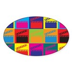 Movies Pop Art Oval Sticker