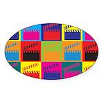 Movies Pop Art Oval Sticker (50 pk)