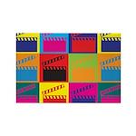 Movies Pop Art Rectangle Magnet