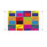 Movies Pop Art Banner
