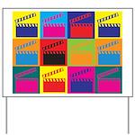 Movies Pop Art Yard Sign