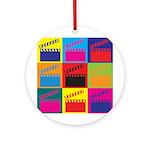 Movies Pop Art Ornament (Round)