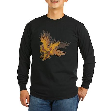 """Eagle Claw Kung Fu"" Long Sleeve Dark T-"