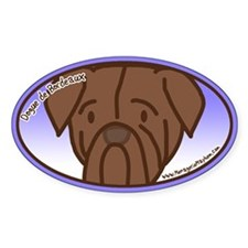 Anime Dogue de Bordeaux Oval Decal