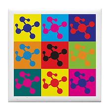 Molecular Biology Pop Art Tile Coaster