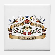 Live Love Pottery Tile Coaster