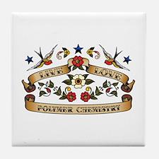 Live Love Polymer Chemistry Tile Coaster