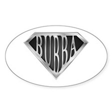SuperBubba(metal) Oval Decal