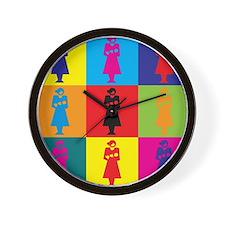Midwifery Pop Art Wall Clock