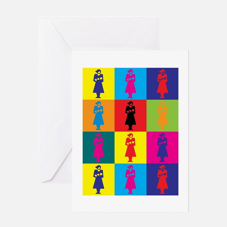 Midwifery Pop Art Greeting Card