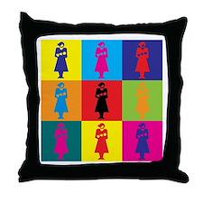Midwifery Pop Art Throw Pillow
