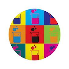 """Microbiology Pop Art 3.5"""" Button (100 pack)"""