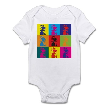 Metal Working Pop Art Infant Bodysuit