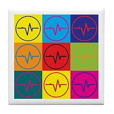 Medical Technology Pop Art Tile Coaster