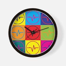 Medical Technology Pop Art Wall Clock