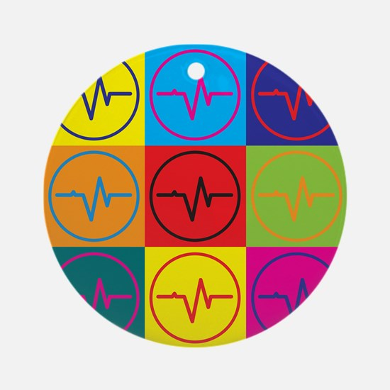 Medical Technology Pop Art Ornament (Round)