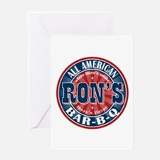 Ron's All American BBQ Greeting Card