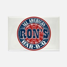 Ron's All American BBQ Rectangle Magnet