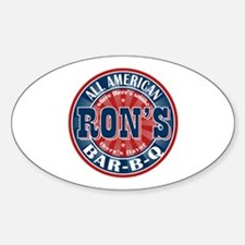 Ron's All American BBQ Oval Decal