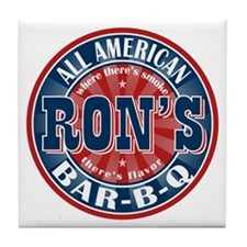 Ron's All American BBQ Tile Coaster