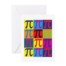 Math Pop Art Greeting Card