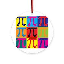Math Pop Art Ornament (Round)