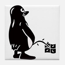 Cute Linux penguin Tile Coaster