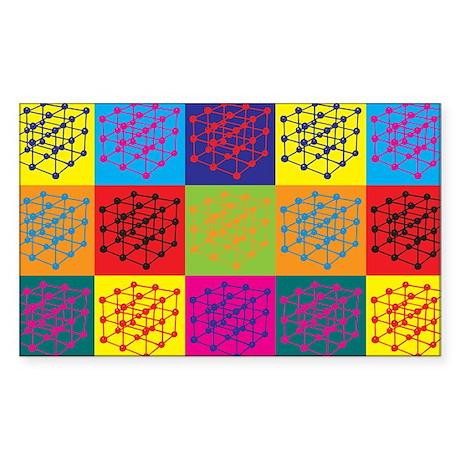 Materials Engineering Pop Art Rectangle Sticker
