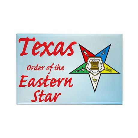 Texas Eastern Star Rectangle Magnet (10 pack)