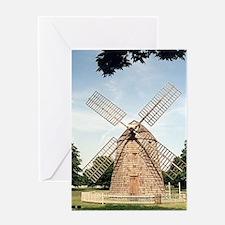 Hamptons windmill Greeting Card - djDuBois.com