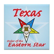 Texas Eastern Star Tile Coaster