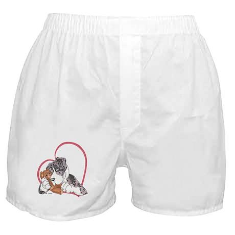 NMtMrl Teddy Hug Heartline Boxer Shorts
