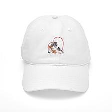 NMtMrl Teddy Hug Heartline Baseball Cap