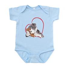 NMtMrl Teddy Hug Heartline Infant Bodysuit