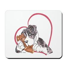NMtMrl Teddy Hug Heartline Mousepad