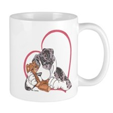 NMtMrl Teddy Hug Heartline Mug