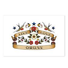 Live Love Organ Postcards (Package of 8)